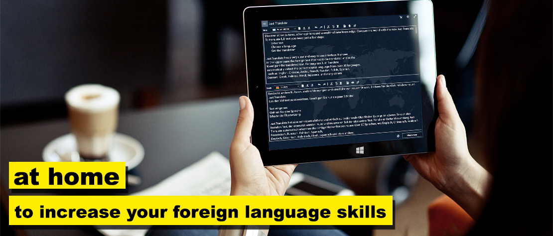 Just Translate - Increase your foreign language skills