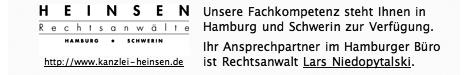 Ihr Anspechpartner im Hamburger Büro der Kanzlei Heinsen: Lars Niedopytalski