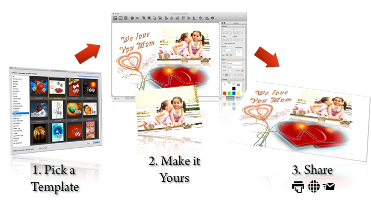 Creating a collage is as easy as 1-2-3
