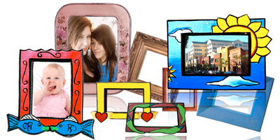 Decorate your photos with frames and borders