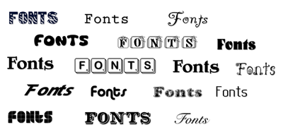 Additional TrueType Fonts for extraordinary designs