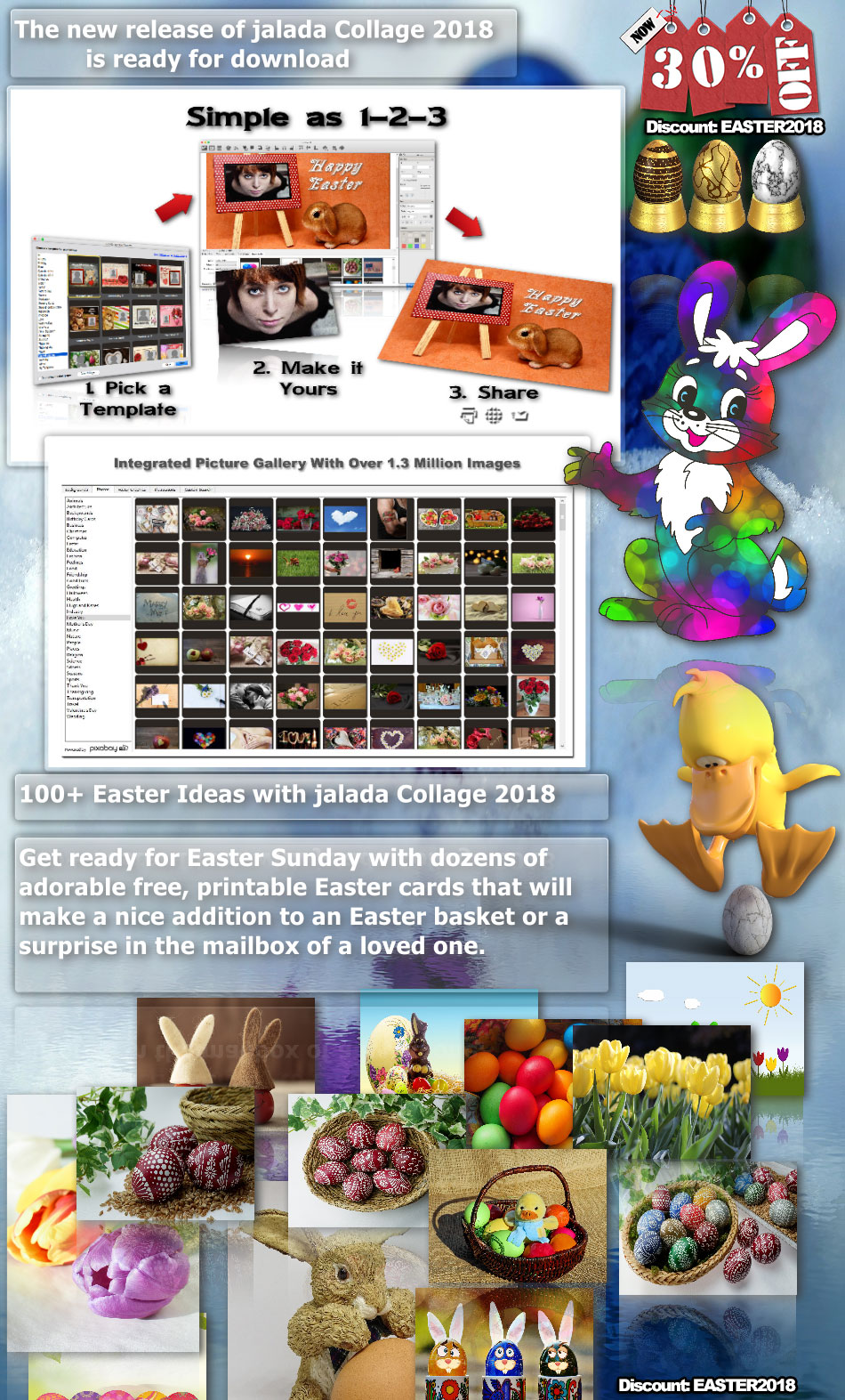 Easter ideas with jalada Collage 2018