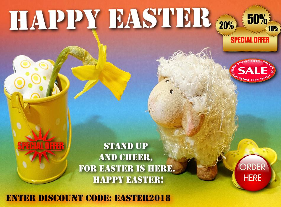 Happy Easter! Brace yourselves, we've got carrots and discounts.