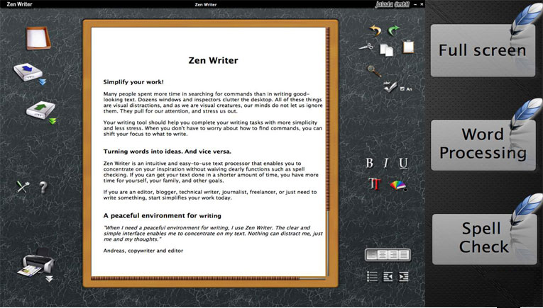 jalada ZenWriter a peaceful environment