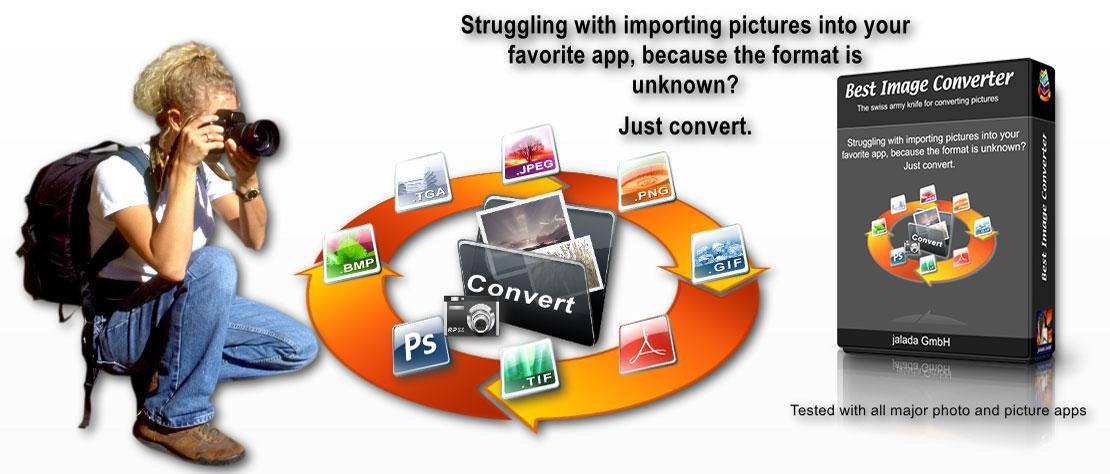 Best Image Converter - The most comprehensive App for converting image types into others.