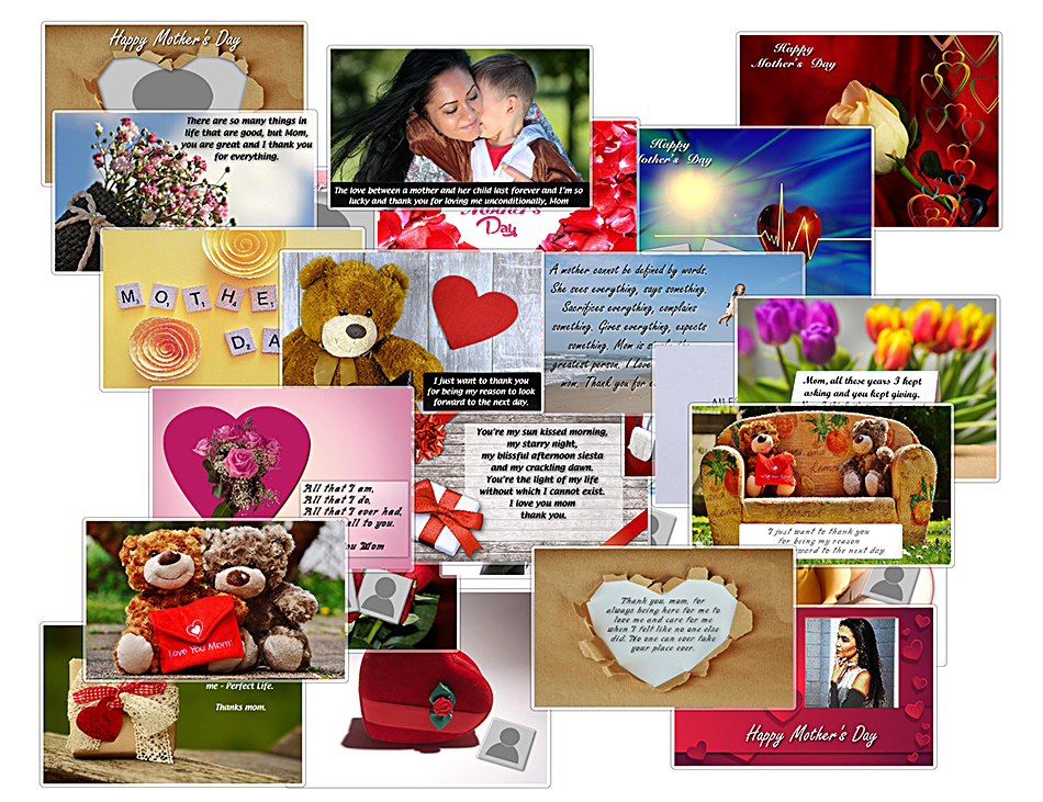 Mother's Day templates (landscape format)