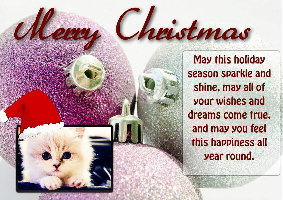 Christmas - May this holiday season sparkle and shine, may all of your wishes and dreams come true, and may you feel this happiness all year round.